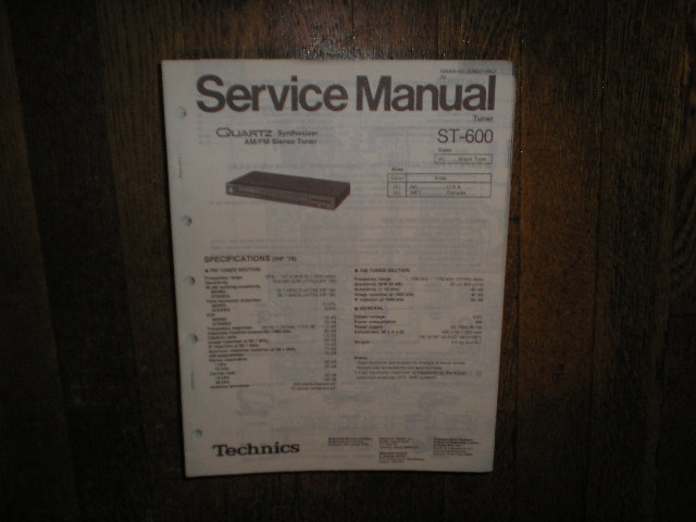 ST-600 AM/FM Tuner Service Manual  Technics