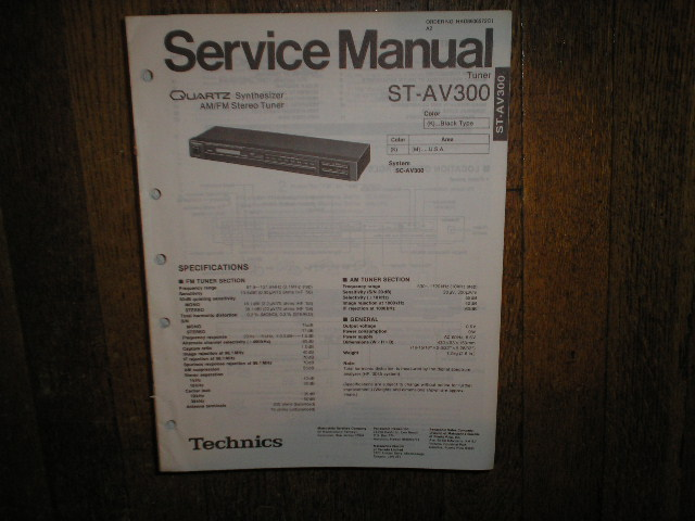 ST-AV300 Tuner Service Manual  Technics