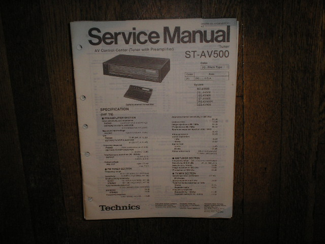 ST-AV500 Tuner Operation Service Manual  Technics