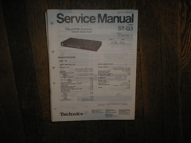 ST-G3 Tuner Service Manual  Technics