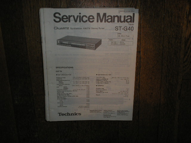 ST-G40 Tuner Service Manual  Technics