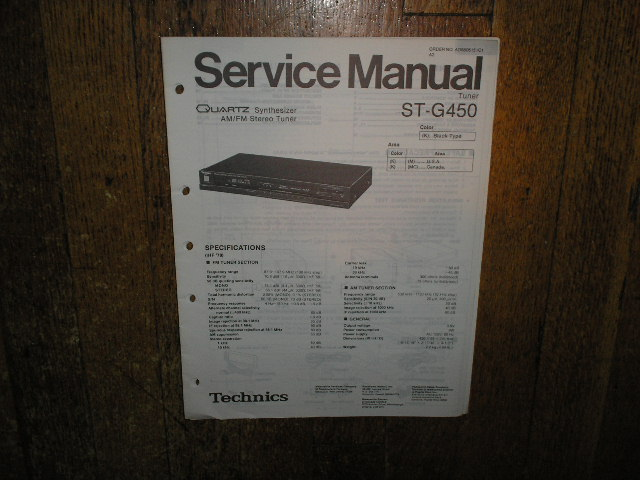 ST-G450 Tuner Service Manual  Technics