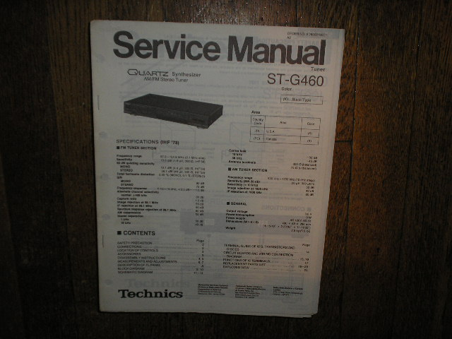 ST-G460 Tuner Service Manual  Technics