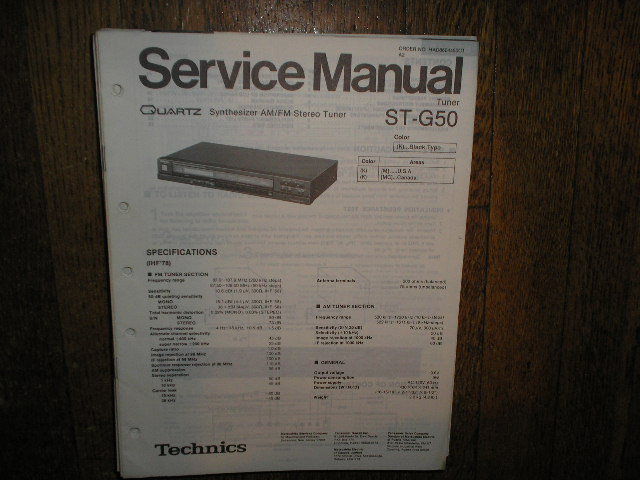 ST-G50 Tuner Service Manual  Technics