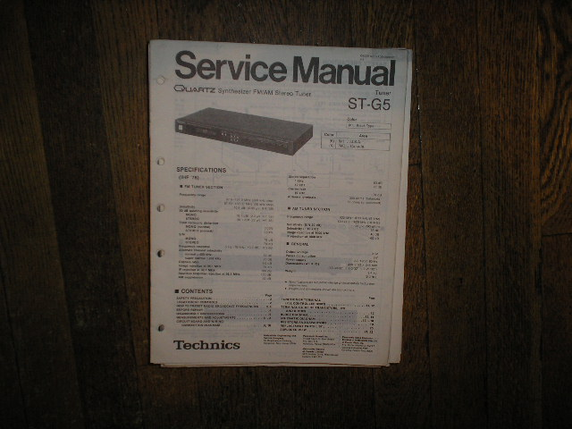 ST-G5 Tuner Service Manual  Technics