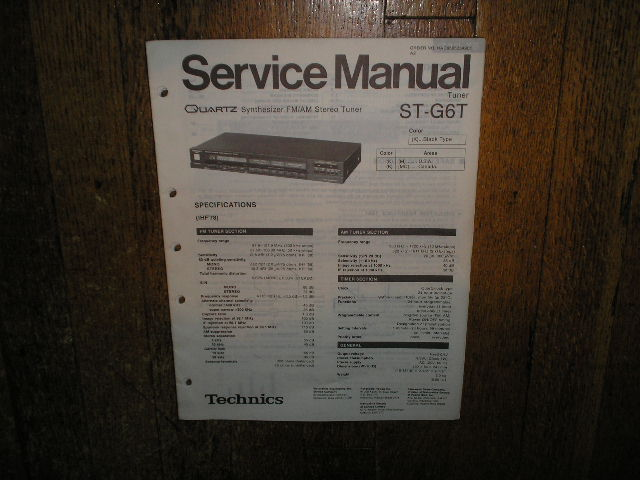 ST-G6T Tuner Service Manual  Technics