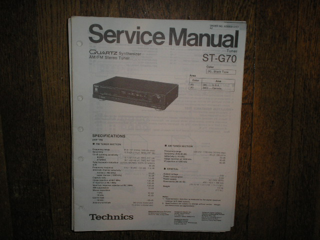 ST-G70 Tuner Service Manual  Technics