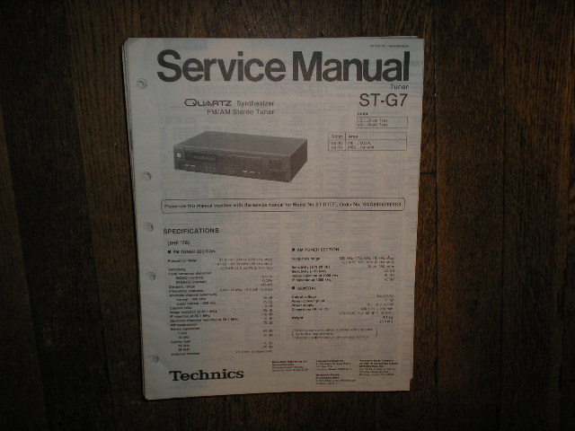 ST-G7 Tuner Service Manual  Technics
