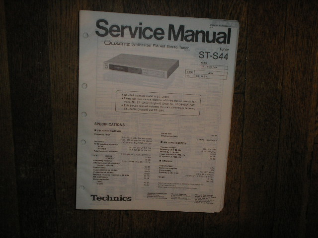 ST-S44 Tuner Service Manual  Technics