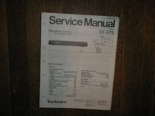 ST-S75 Tuner Service Manual  Technics