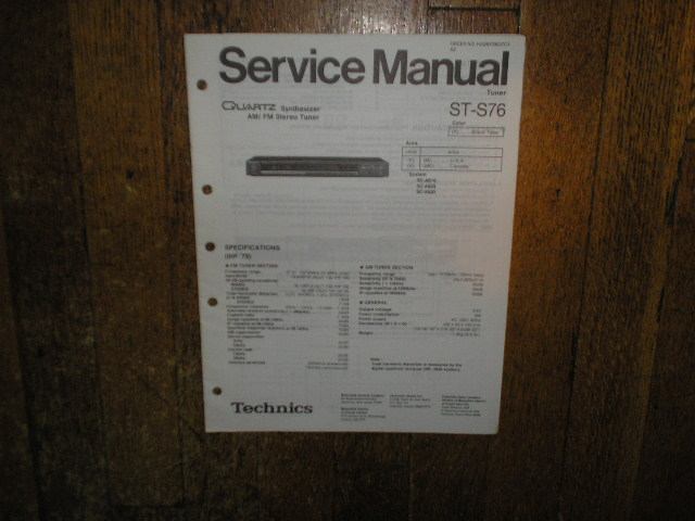 ST-S76 Tuner Service Manual  Technics