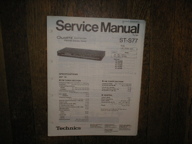ST-S77 Tuner Service Manual  Technics
