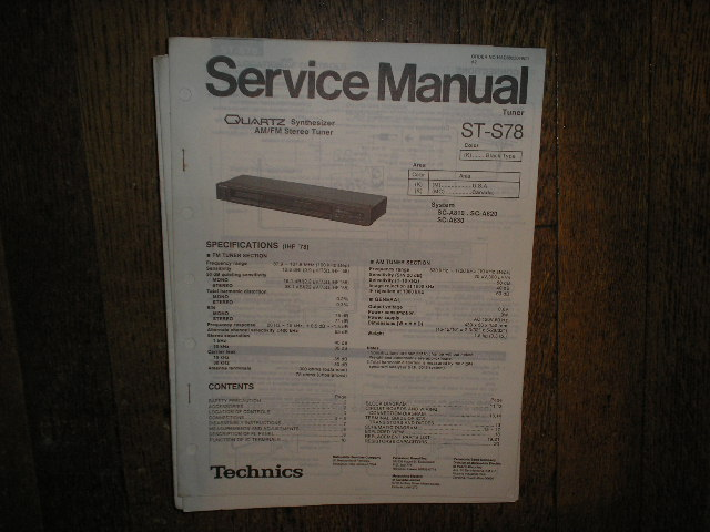 ST-S78 Tuner Service Manual  Technics