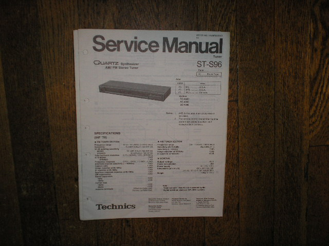 ST-S96 Tuner Service Manual  Technics