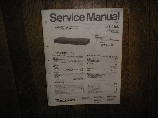 ST-S98 Tuner Service Manual  Technics