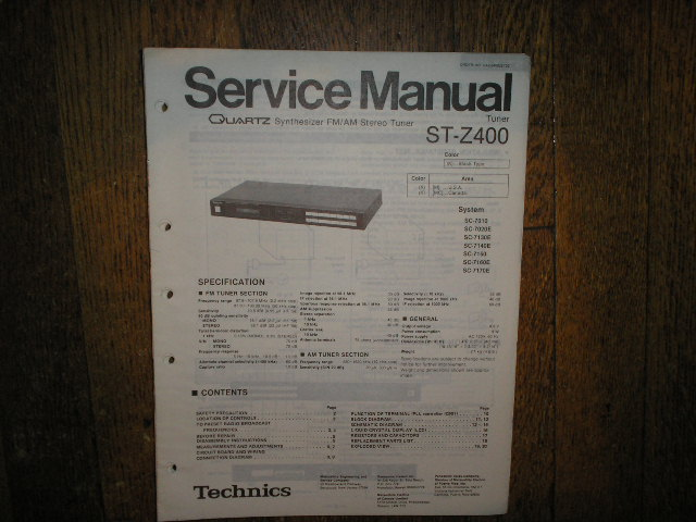 ST-Z400 Tuner Service Manual  Technics