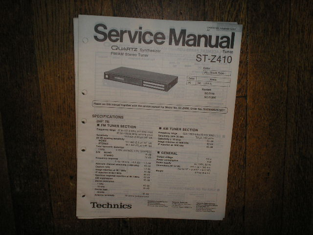 ST-Z410 Tuner Service Manual  Technics