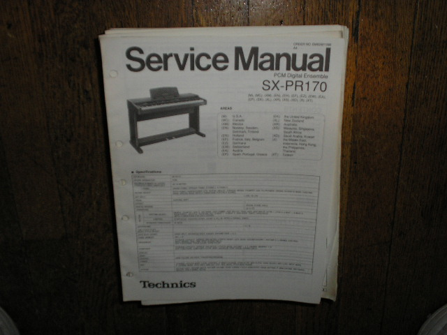 SX-PR170 PCM Digital Ensemble Service Manual