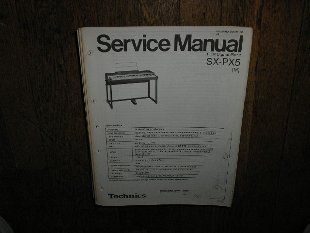SX-PX5 SX-PX5M PCM Digital Piano Service Manual