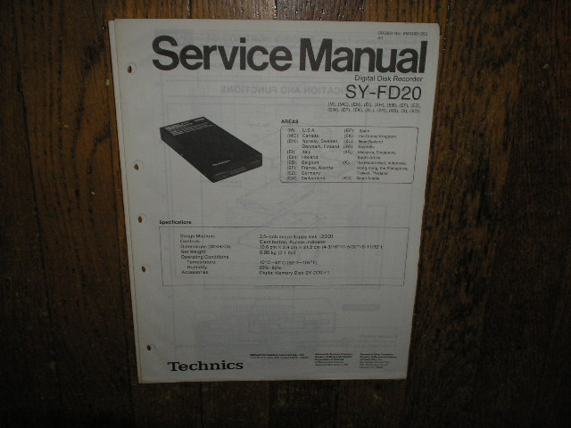SY-FD20 Digital Disk Recorder Service Manual..