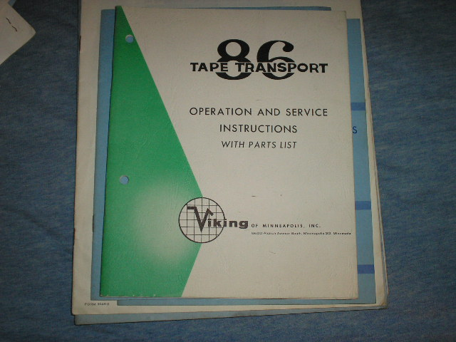 86 Tape Transport Operation and Service Instruction Manual  Viking