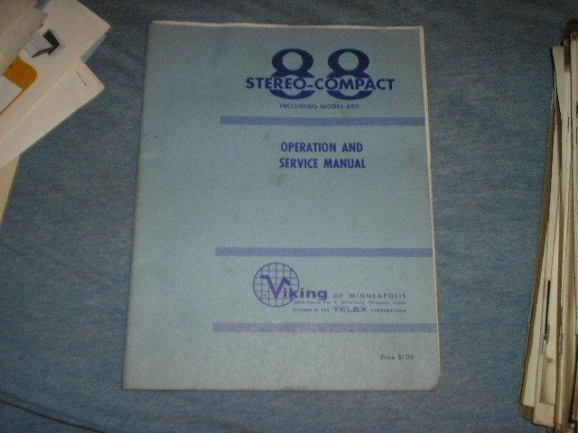 88 880 Tape Transport Operating and Service Instruction Manual  Viking
