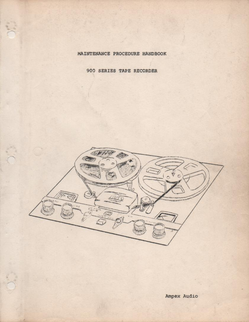 A-111 Reel to Reel Service Manual  AMPEX