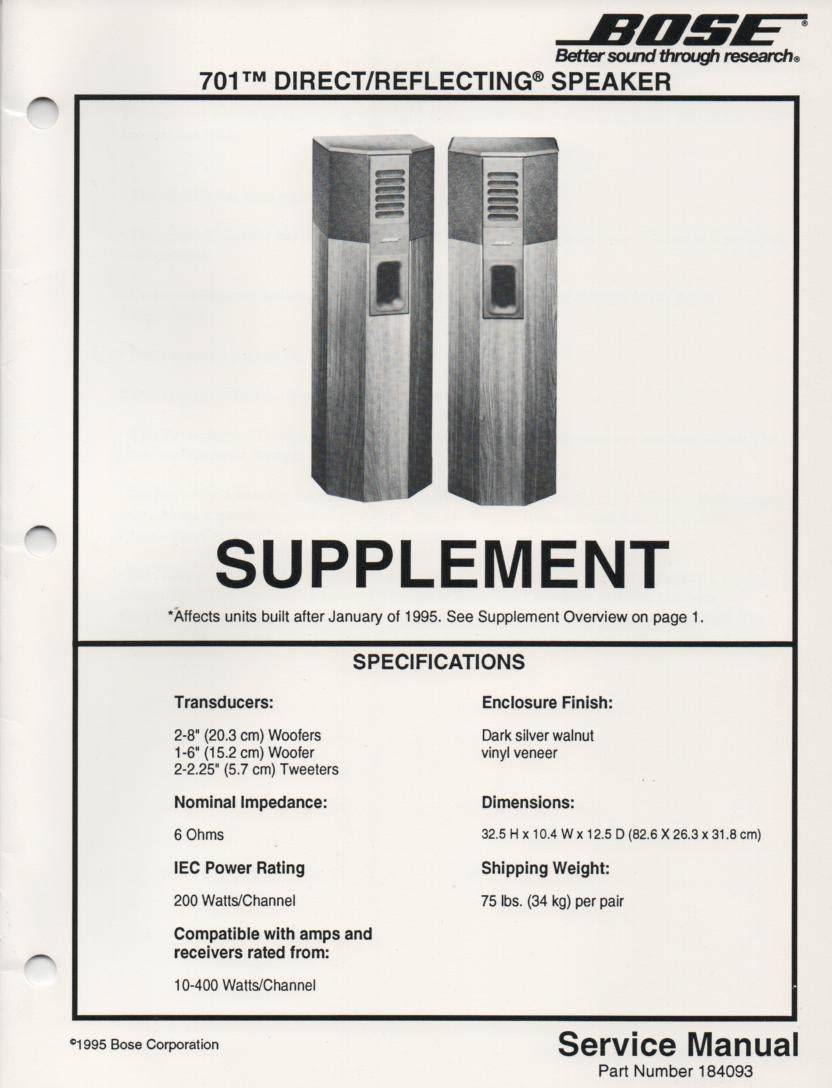 bose 701 series 1. $12.99 bose 701 series 1 b