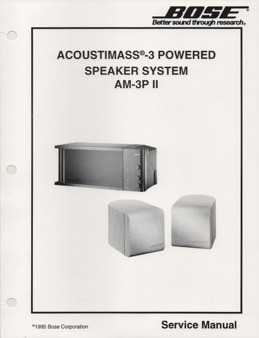 bose am 3p powered acoustimass 3 series ii speaker system service manual rh mikesmanuals com Install Bose Speakers to Computer Bose TV Speaker System