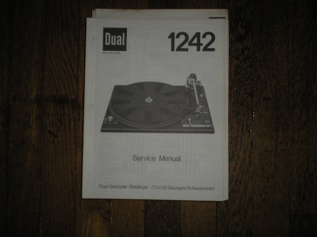 1242 Turntable Service Manual  Dual