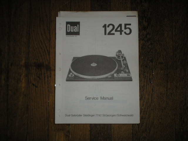 1245 Turntable Service Manual  Dual