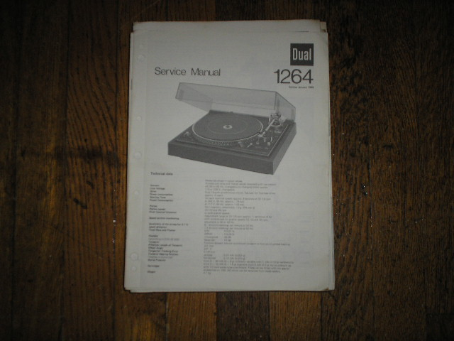1264 Turntable Service Manual  Dual