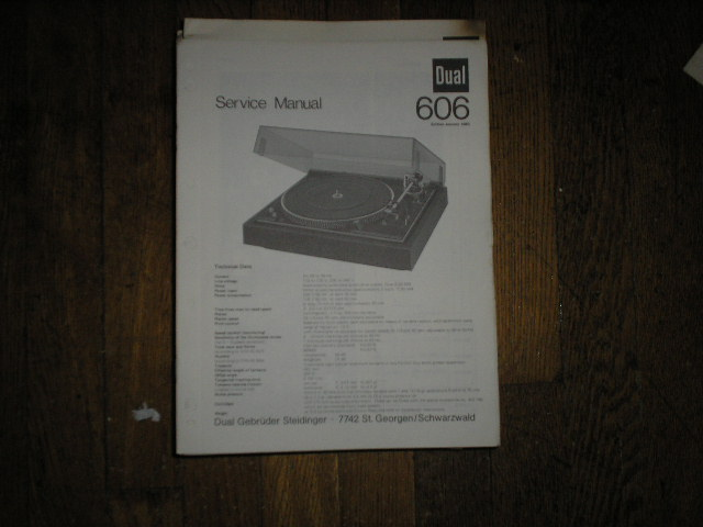 606 Turntable Service Manual  Dual