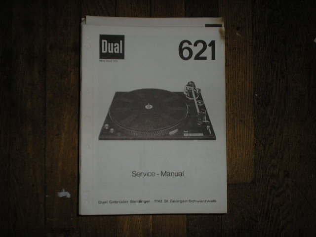 621 Turntable Service Manual  Dual