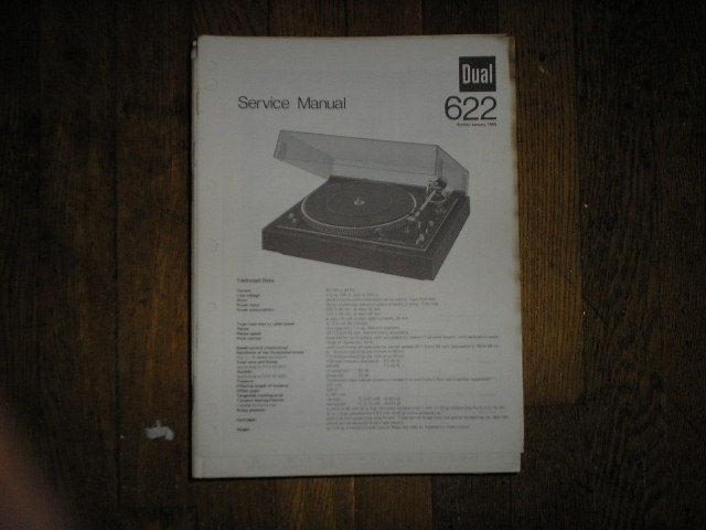 622 Turntable Service Manual  Dual
