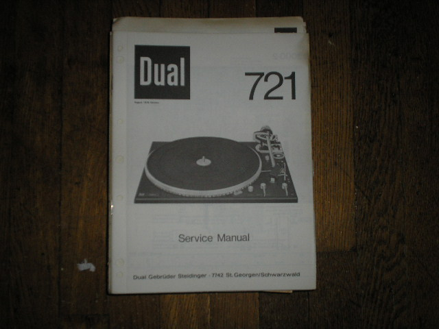 704 Turntable Service Manual  Dual