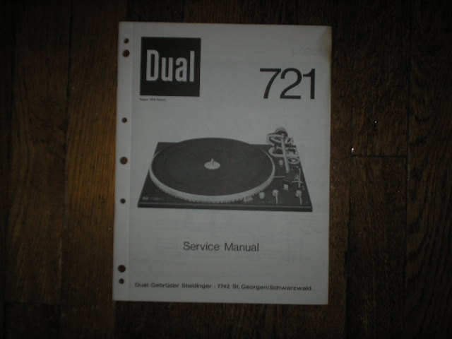 721 Turntable Service Manual  Dual