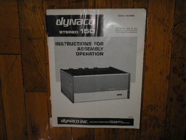 Dynaco FM-1 Tuner Assembly Service Manual