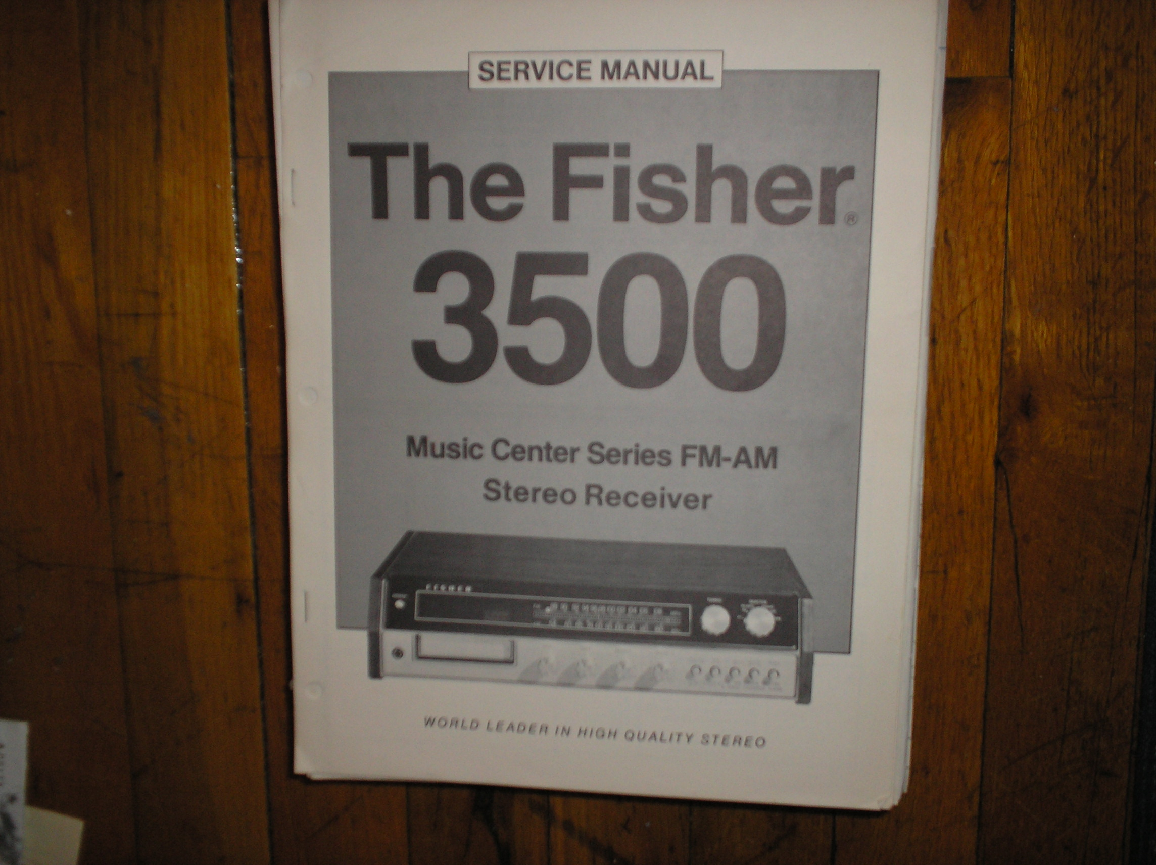 3500 Receiver Service Manual
