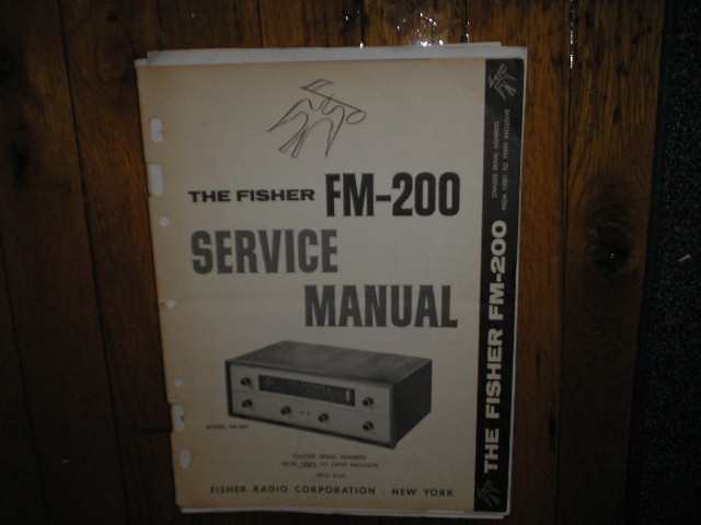 FM-200 Tuner Service Manual for Serial no 10001 - 19999  Fisher