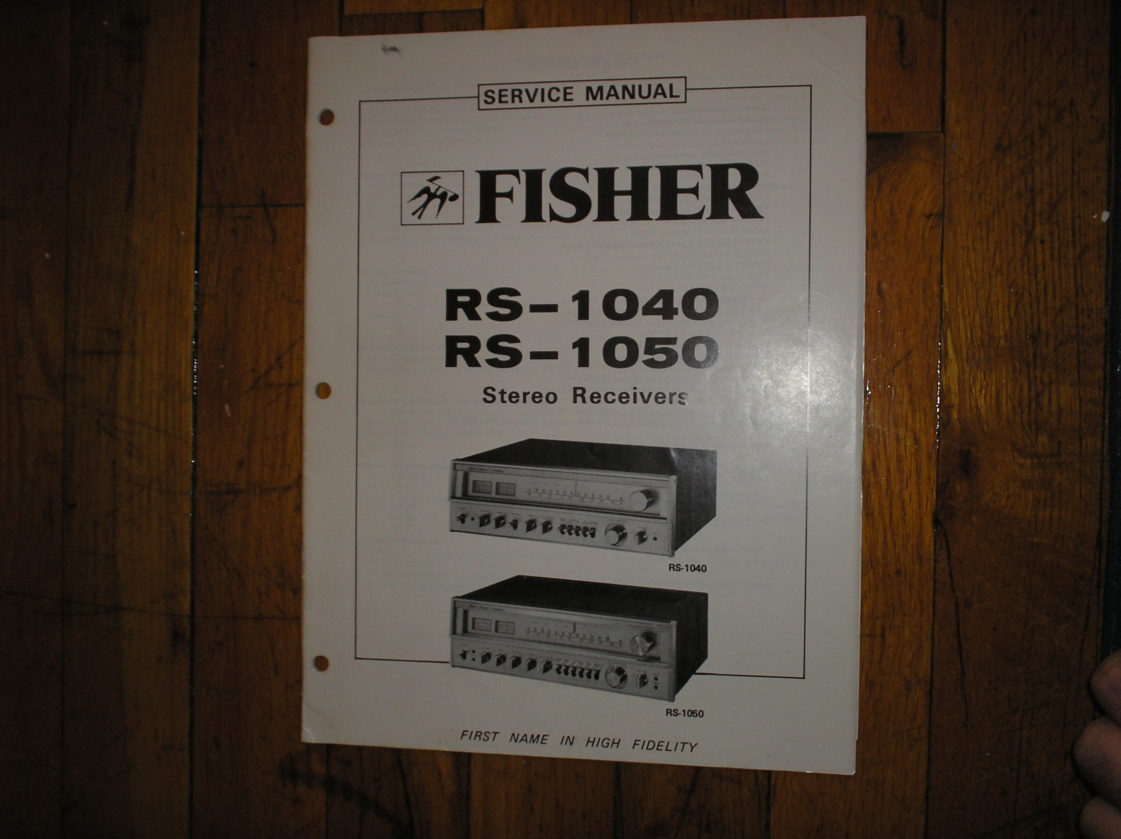 RS-1040 RS-1050 Receiver Service Manual