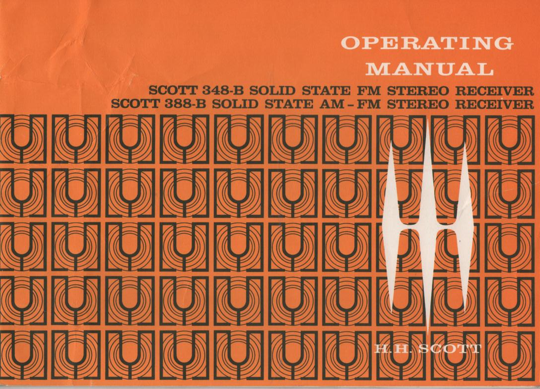 348-B FM Tuner Operating Instruction Manual  Scott