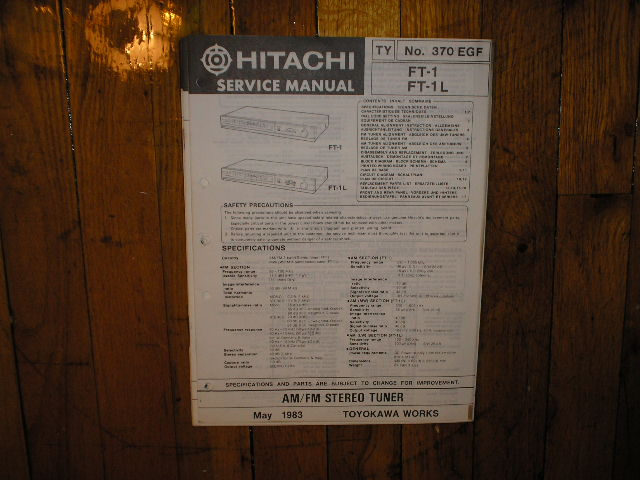 FT-1 FT-1L Tuner Service Manual  Hitachi