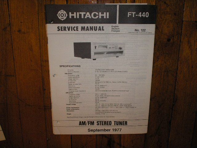 FT-440 Tuner Service Manual  Hitachi
