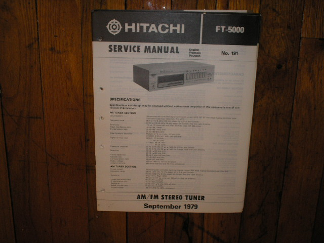 FT-5000 Tuner Service Manual  Hitachi