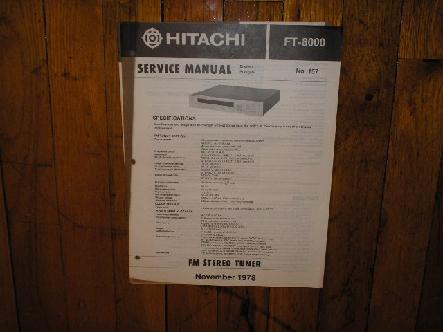 FT-8000 Tuner Service Manual  Hitachi