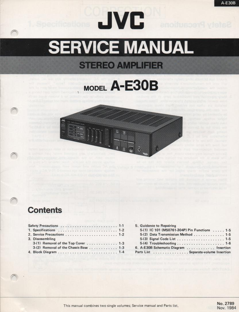 A-E30B Amplifier Service Manual
