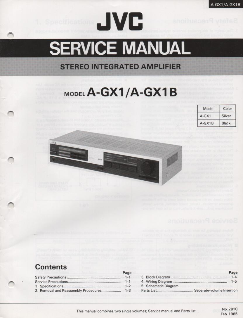 A-GX1 Amplifier Service Manual