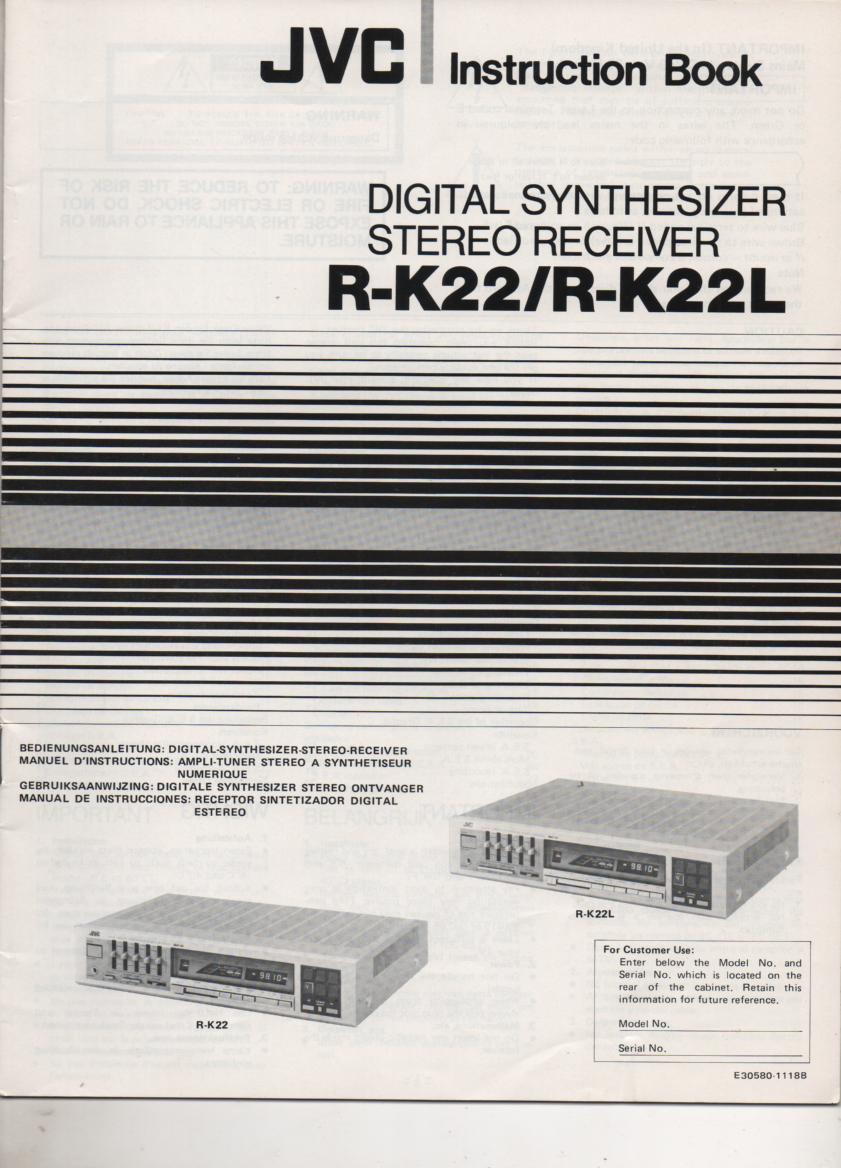 R-K22 R-K22L Receiver Owners Manual