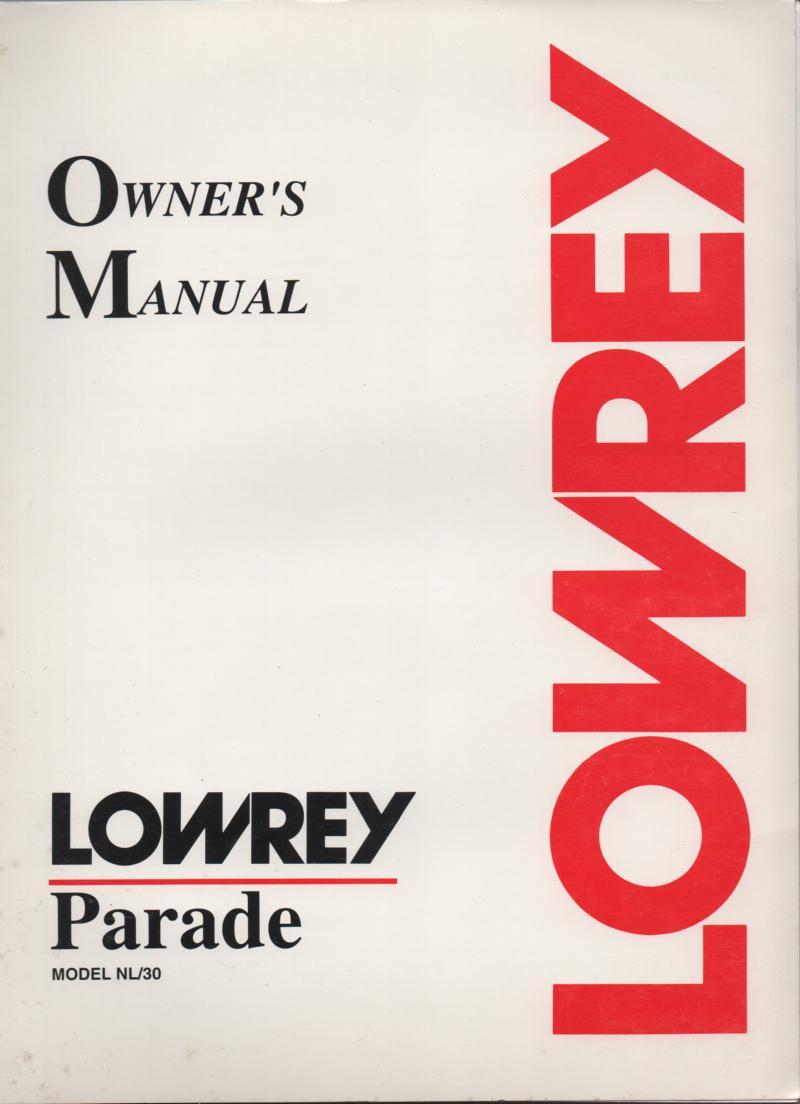 lowrey nl30 parade organ owners manual lowrey carnival organ owners manual Lowrey Organ Models